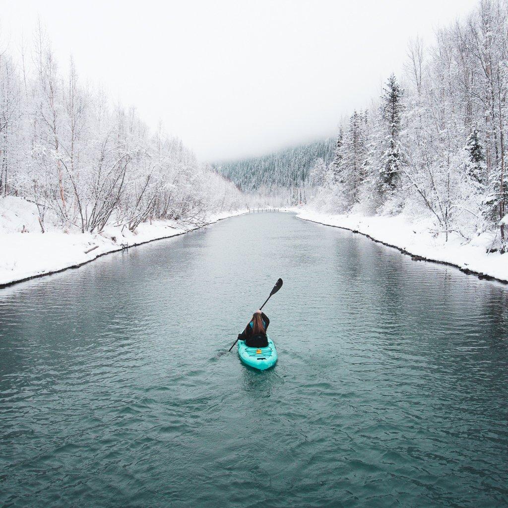 winter activities in alaska winter kayaking