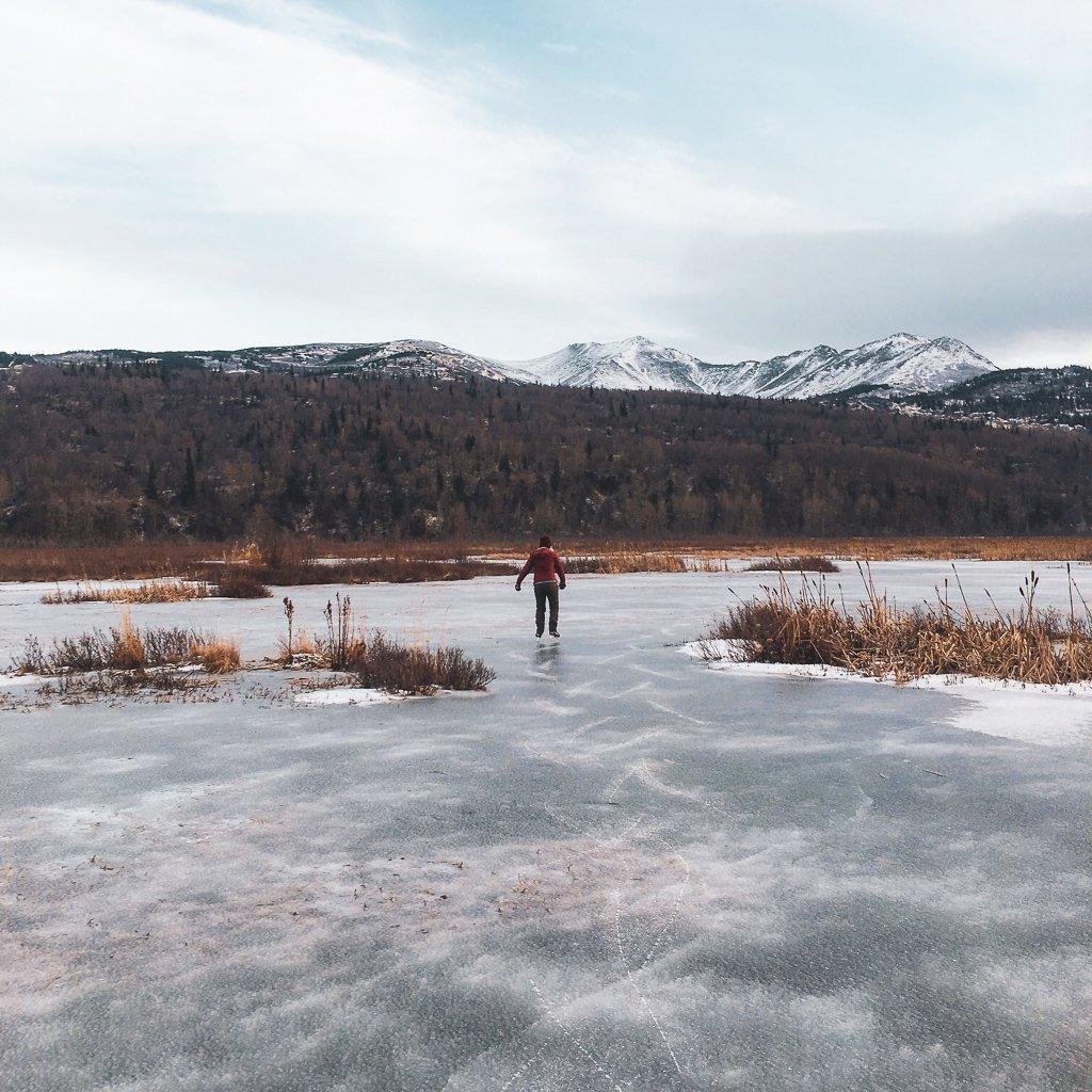winter activities in alaska ice skating potters marsh