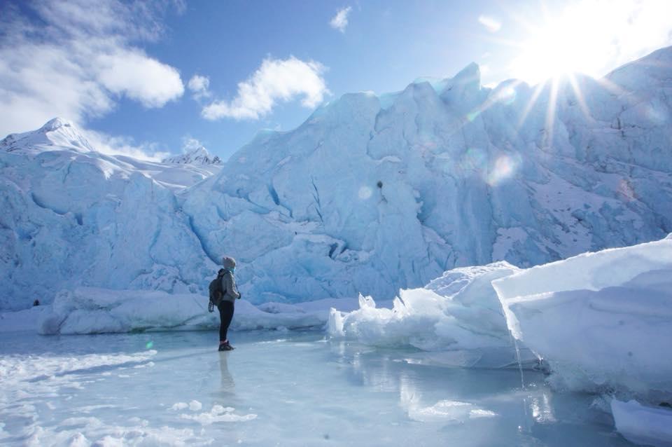 Portage Glacier Winter HIke Near Anchorage