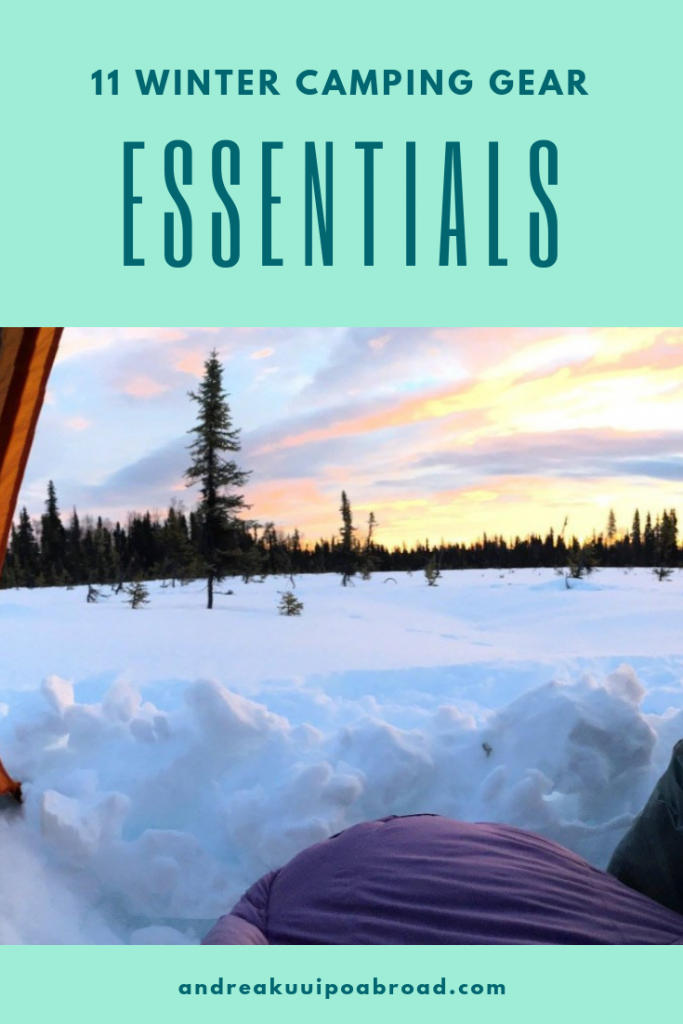 The Winter Camping Gear Essentials You Need For a Cozy Night Outdoors. #wintercamping #wintergear #camping