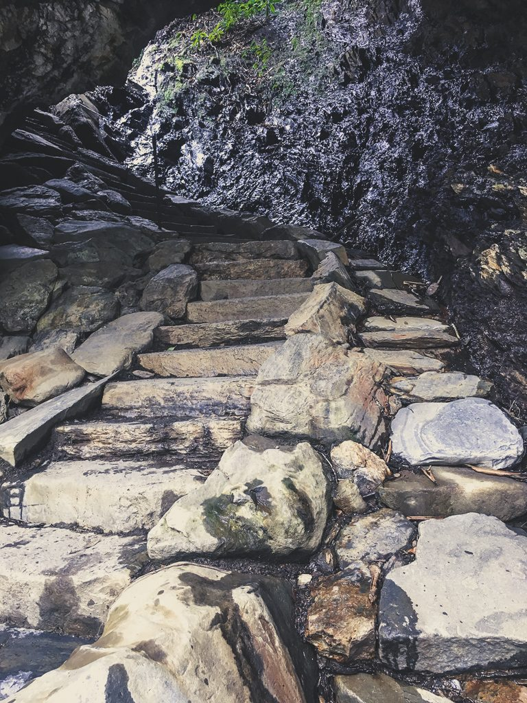 alum cave trail arch rock steps mt leconte