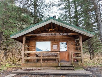 Hike Caines Head Callisto Canyon Cabin in Seward During Low Tide