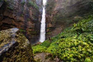 Kapas Biru Waterfall East Java Indonesia