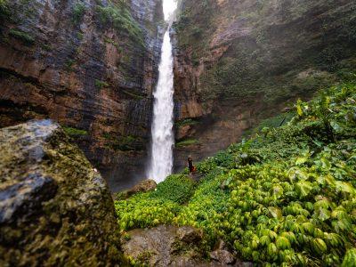 Kapas Biru Waterfall Hike in East Java, Indonesia