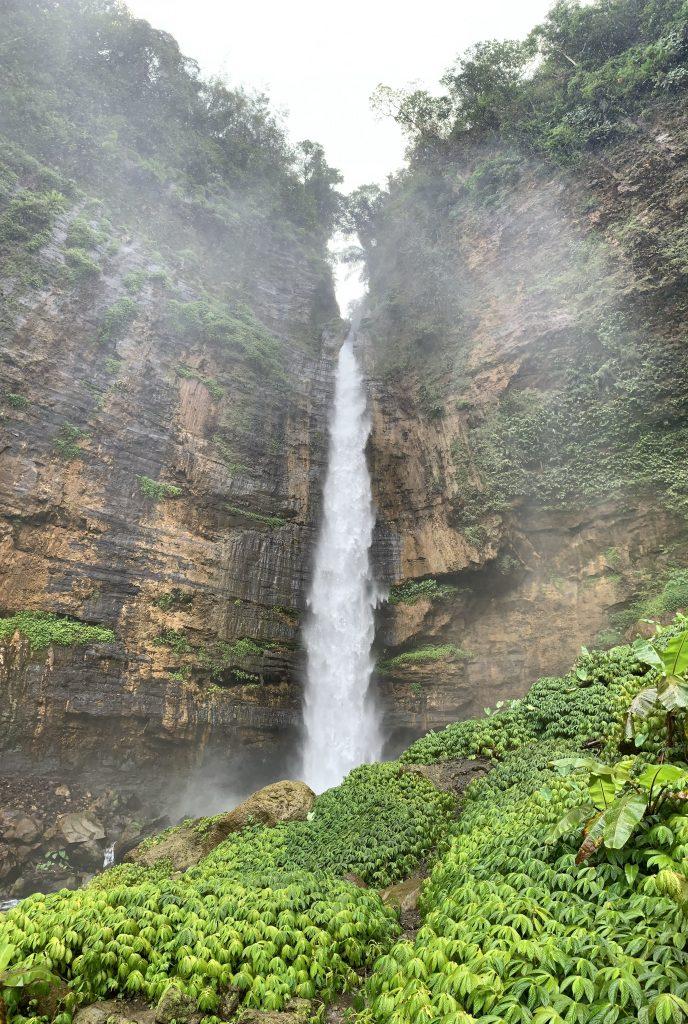 Kapas Biru Blue Cotton Waterfall