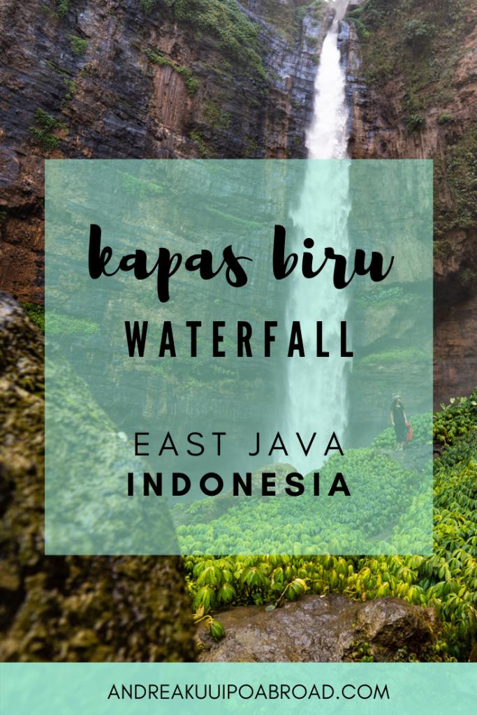 Hike Kapas Biru Waterfall in East Java, Indonesia