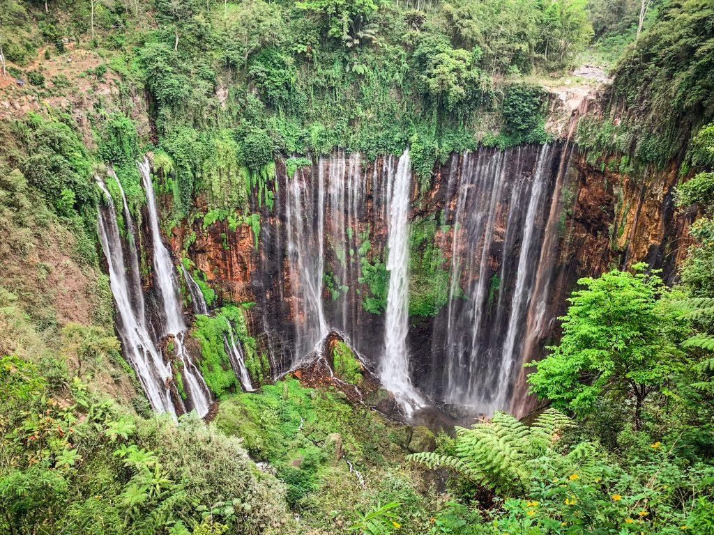 Tumpak Sewu Waterfall Hike Panoramic View