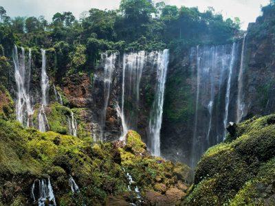 Tumpak Sewu Waterfall Hike in East Java, Indonesia