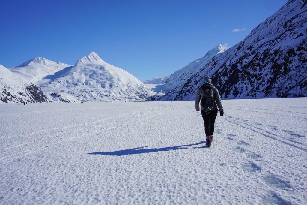 Frozen Portage Lake
