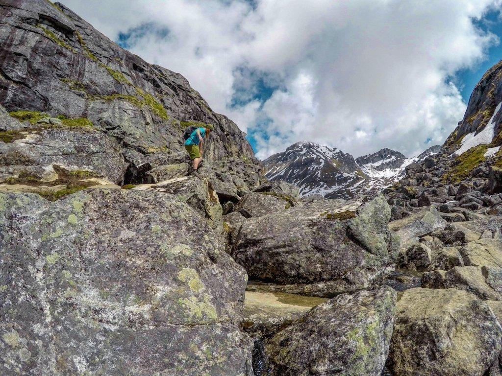 Reed Lakes Trail Boulder Field Scramble