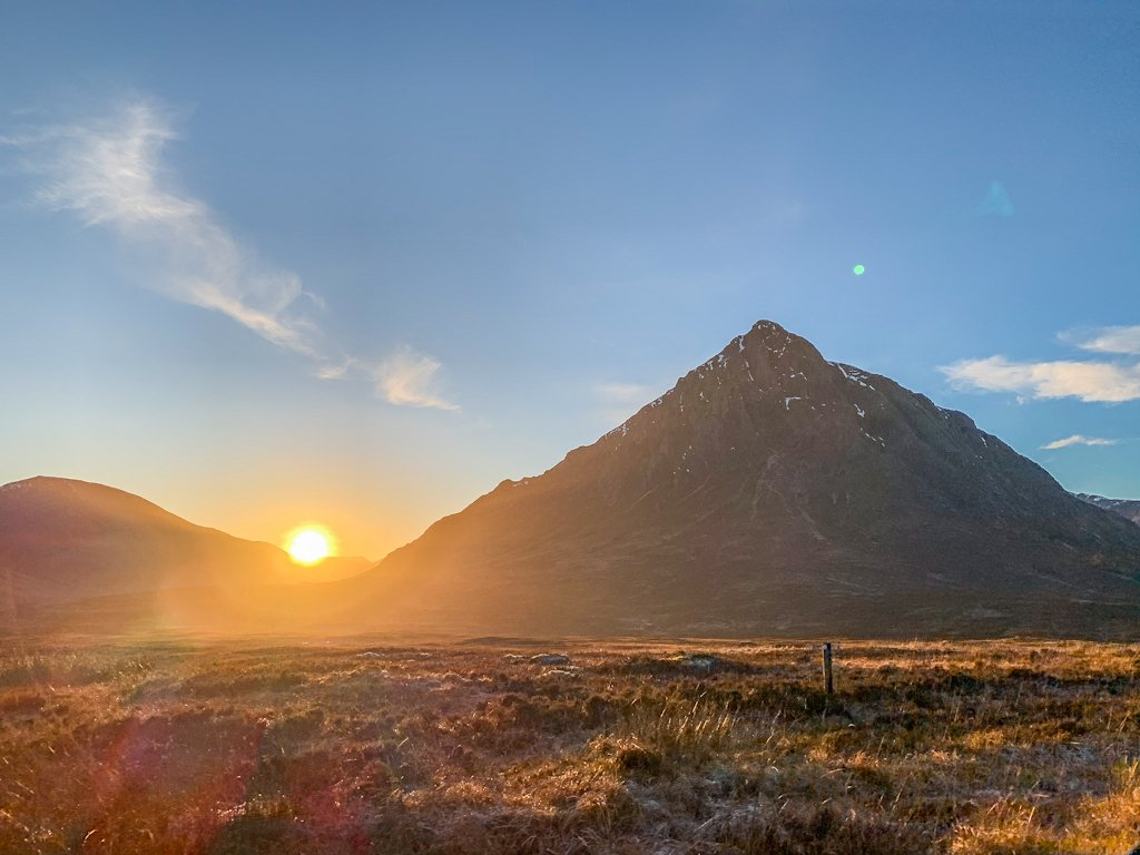 Glencoe Sunset Scotland Highlands