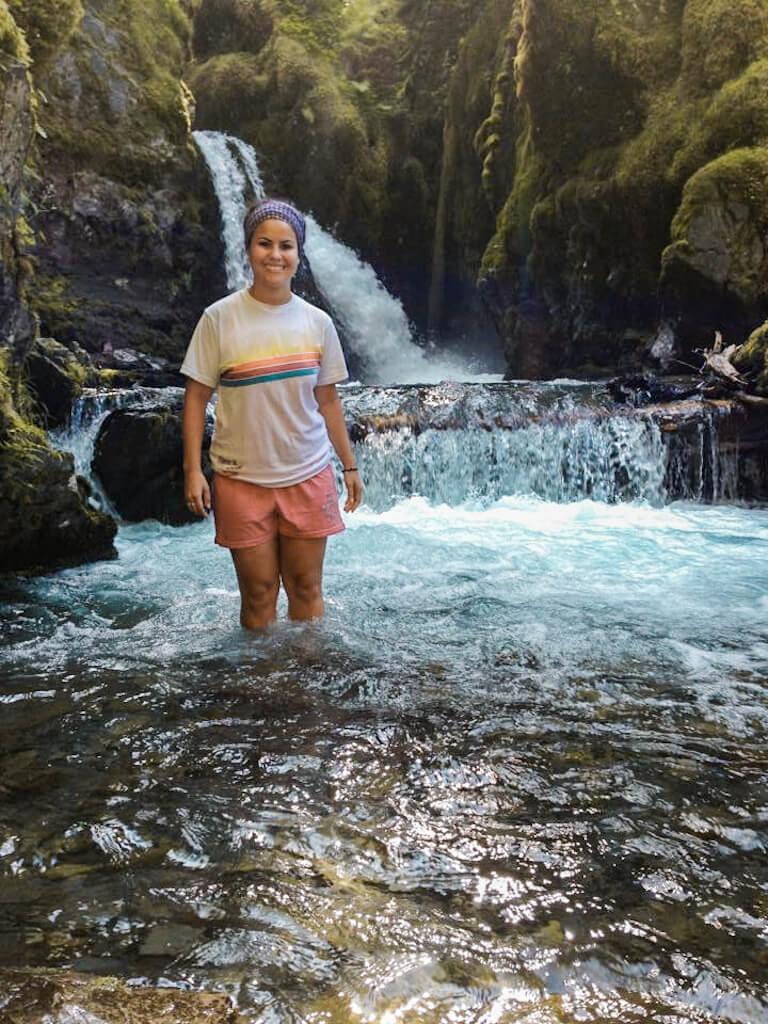 Virgin Creek Falls Girdwood Alaska