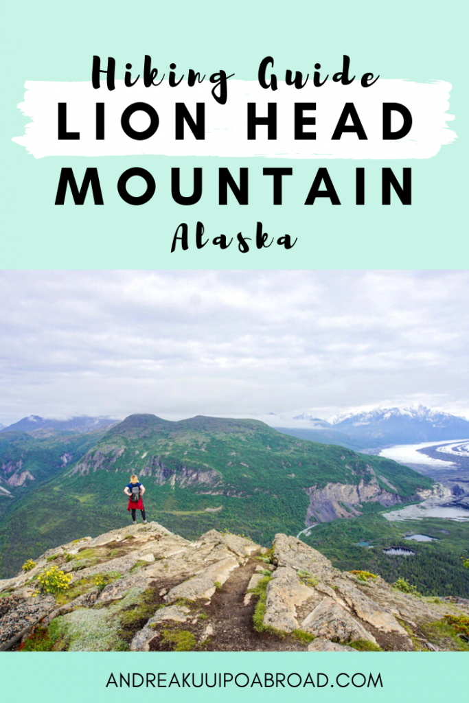 Hike Lions Head Mountain Trail in Alaska. Enjoy incredible views of Matanuska Glacier on this 2.1 mile hike. #alaska #hiking #lionheadmountain #alaskahike