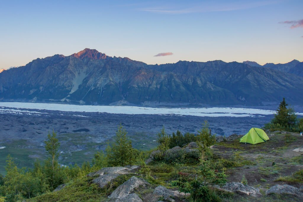 Camping Lion Head Mountain Alaska Matanuska Glacier