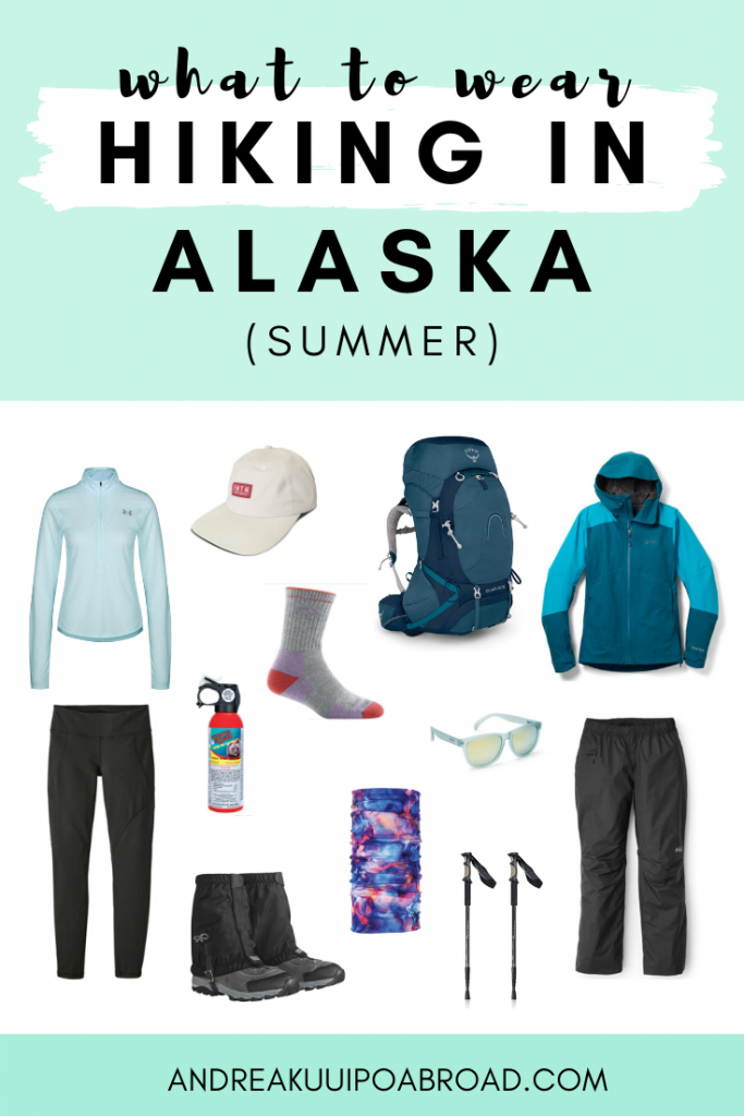 Figuring out what to wear hiking in Alaska during summer can be challenging. As a local, I share my recommendations on what to wear hiking in Alaska in summer. #Alaska #Hiking #AlaskaSummer #WomensHikingGear #HikingGear #AlaskaPackingList #