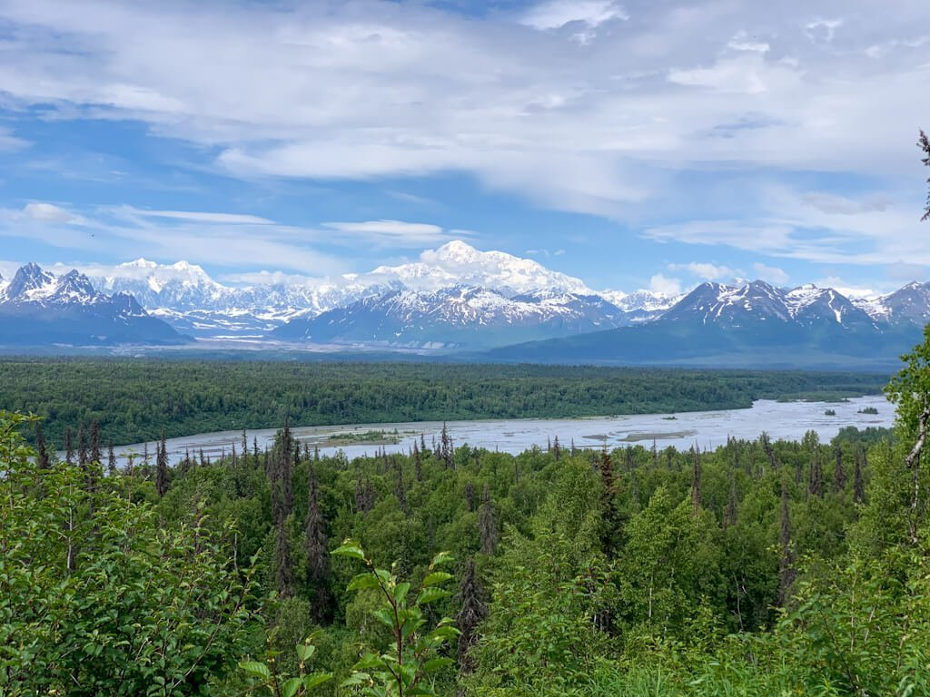 Denali View From K'esugi Ken Campground
