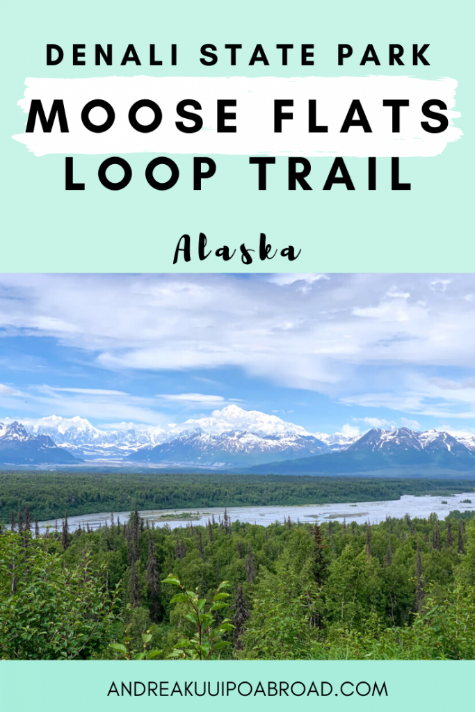 Moose Flats Loops Trail is one of the quickest hiking views of Denali in Denali State Park. This 0.5 mile trail offers incredible views of Denali. #hiking #Alaska #denali #denalistatepark #mountain