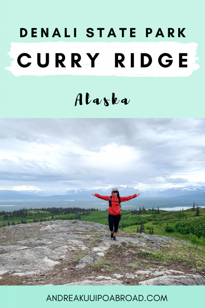 Curry Ridge Trail is one of the best day hikes in Denali State Park. This 6.5 mile out and back trail offers incredible views of Denali. #hiking #Alaska #denali #denalistatepark #mountain