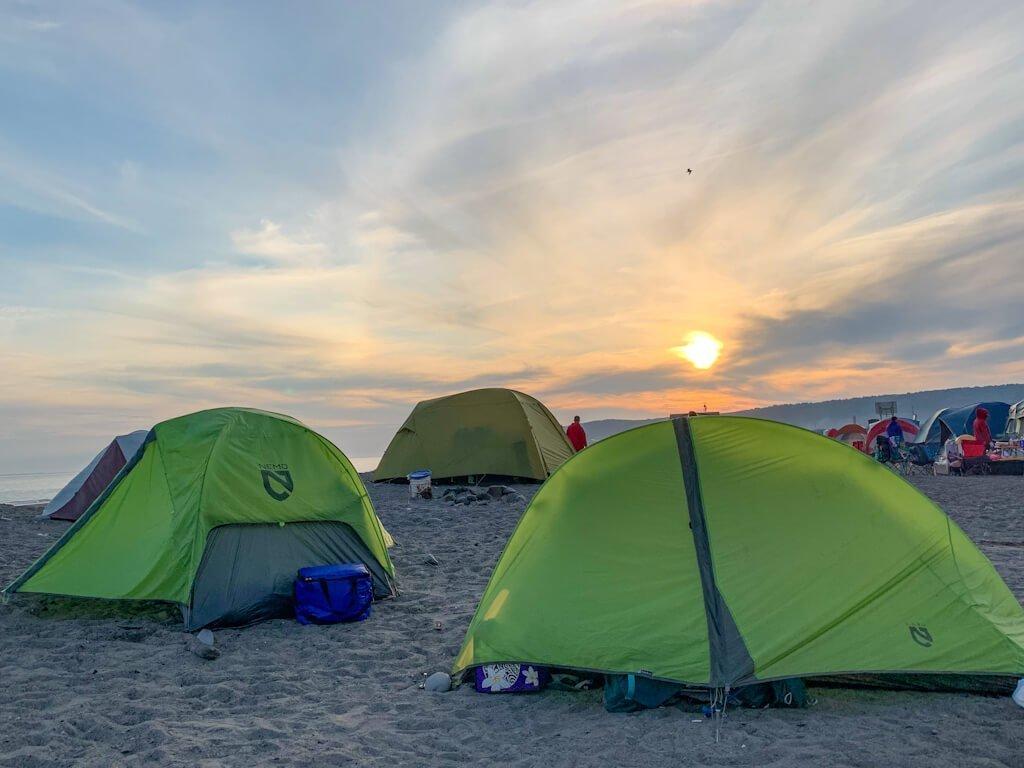 Camping on the Beach Homer Spit Alaska