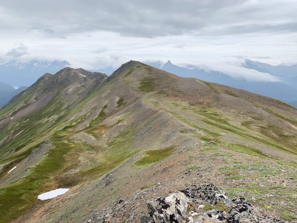 Sharp Ridgeline Grace Ridge Alaska