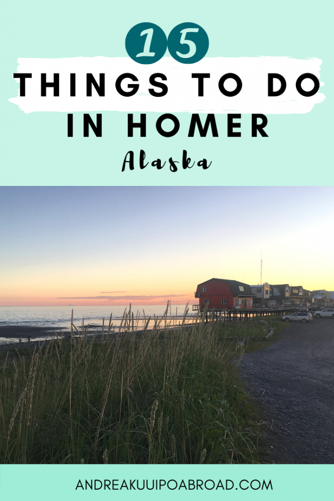Best Things To Do in Homer Alaska. Homer is known for great halibut fishing and the famous Homer Spit. Here are the top things to do in Homer, Alaska. #Alaska #HomerAlaska #VisitAlaska #HalibutFishing #Fishing