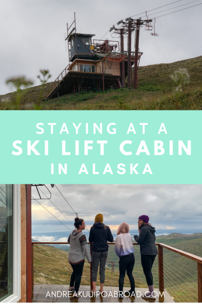 You can stay at this ski lift cabin in Alaska in Arctic Valley. A short hike will get you to this public use cabin. #alaska #hiking #publicusecabin #arcticvalley #cozycabin #backpacking