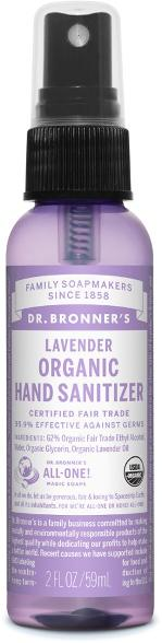 Dr Bronners Organic Hand Sanitizer Travel