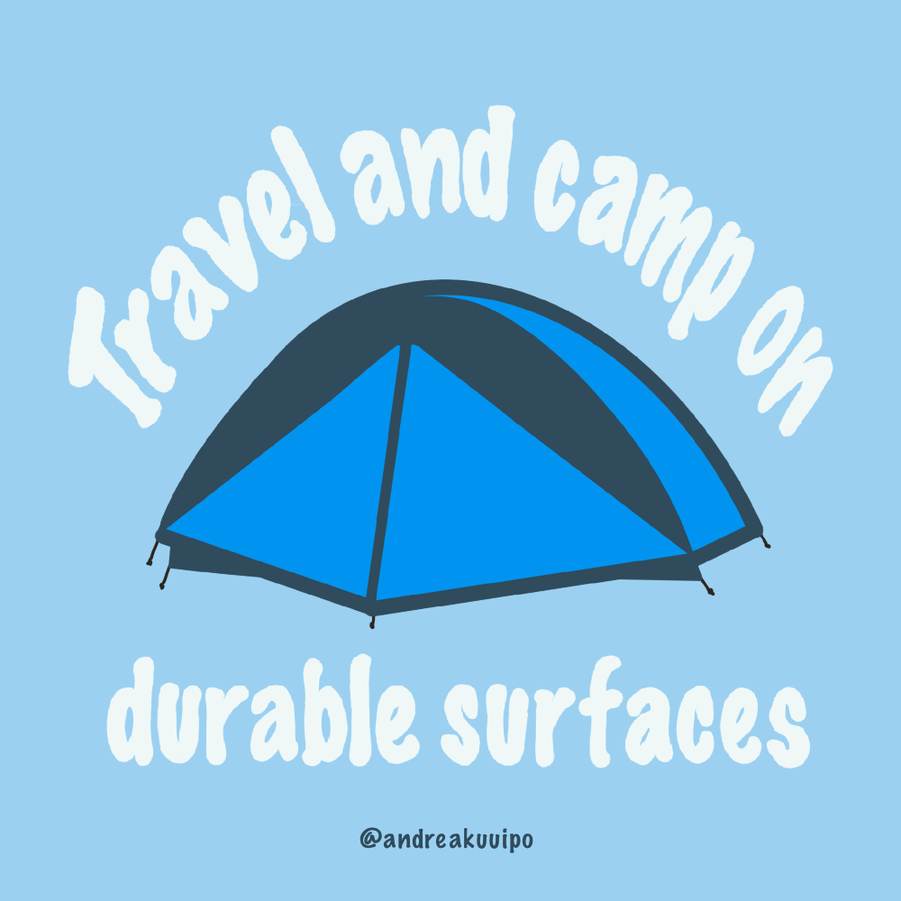Travel and Camp on Durable Surfaces in Alaska