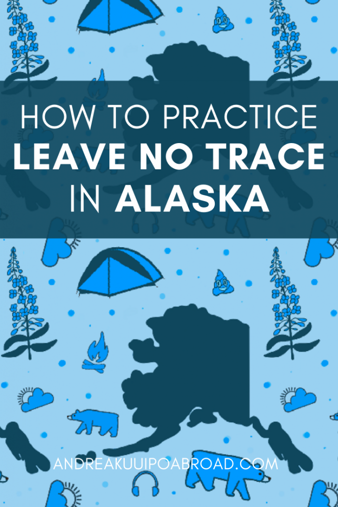 Keep Alaska wildly beautiful by learning how you can practice Leave No Trace Principles in Alaska. #Alaska #LeaveNoTrace #LeaveNoTracePrinciples #LNT #AlaskaTravel