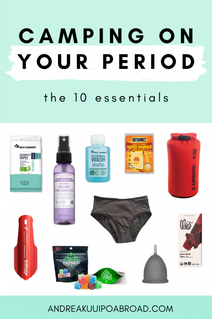 How to camp on your period. The 10 essentials for camping on your period. Tips and hacks for camping on your period. #camping #period #periodhacks #menstruation #outdoorwomen