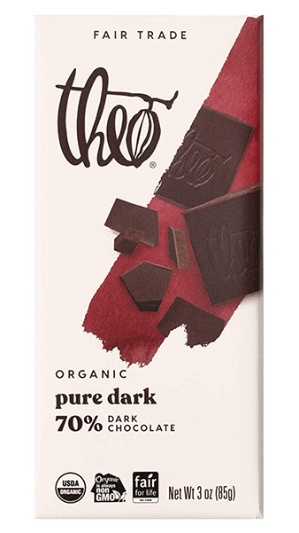 Theo Organic Dark Chocolate Bar 70%