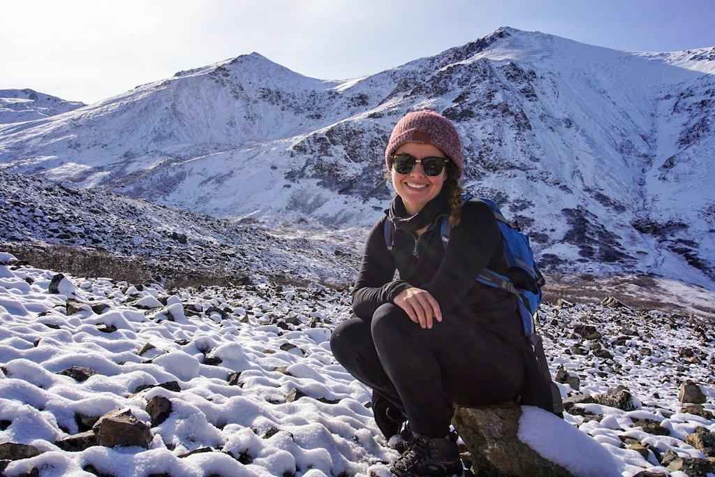 Andrea Kuuipo Abroad Eagle River Hike