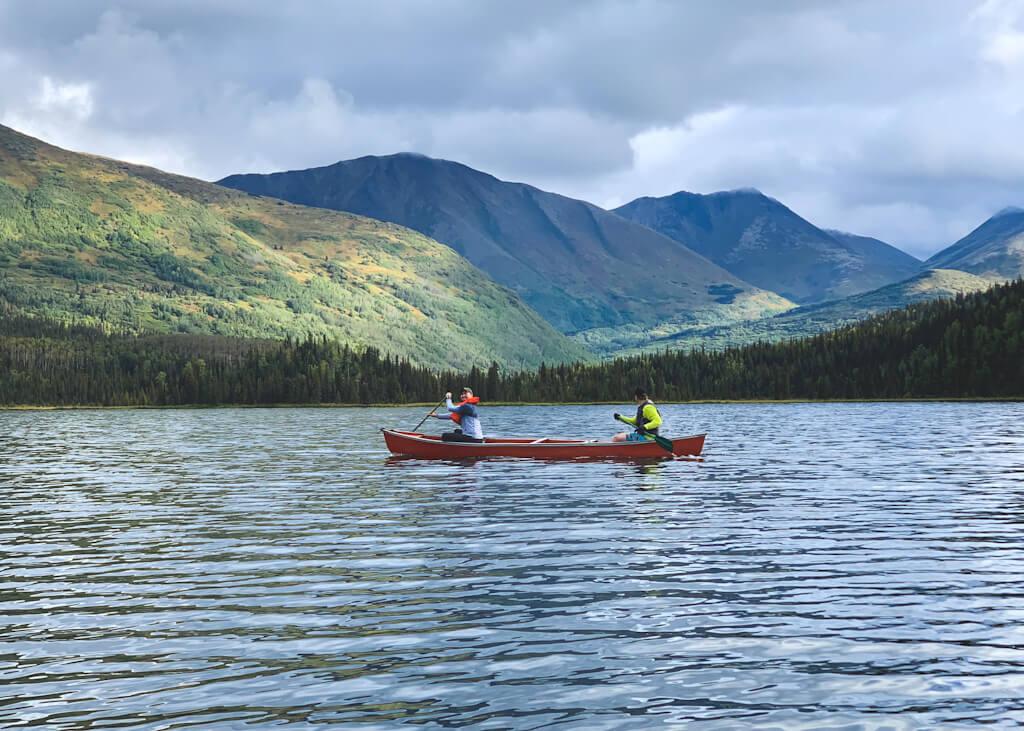 Canoeing Juneau Lake Alaska