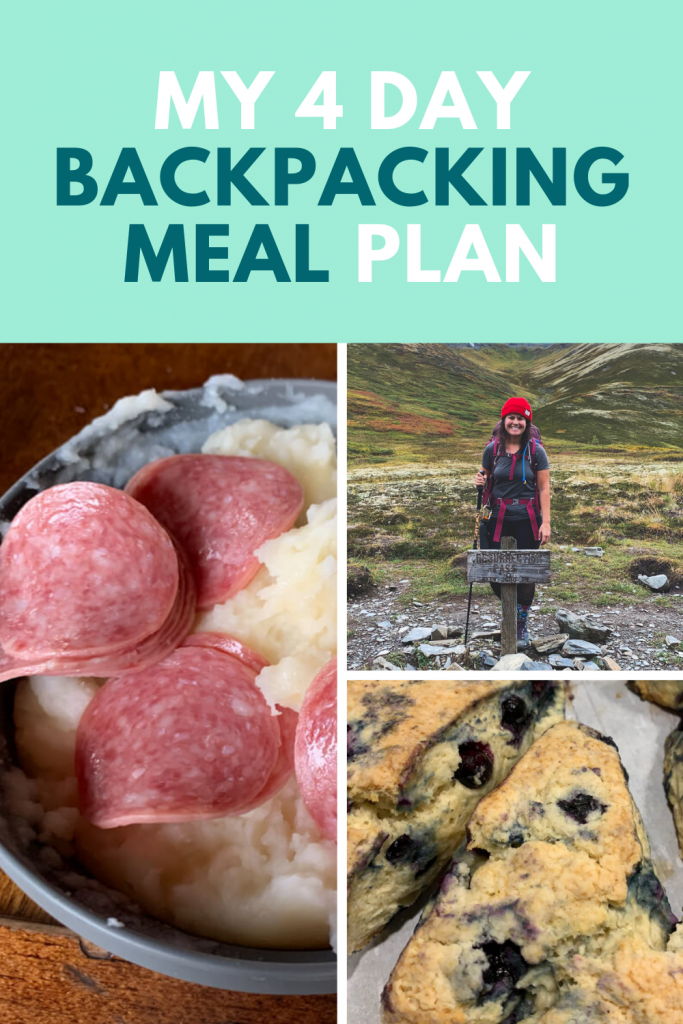 Everything I Ate Backpacking On A 4-Day Trip. All this easy backpacking meals are no cook and just add water. Easy instant DIY meal ideas to make for your next backpacking trip.