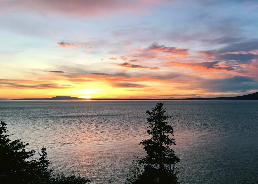 Gull Rock Trail Hope Alaska Sunset Sleeping Lady Turnagain Arm
