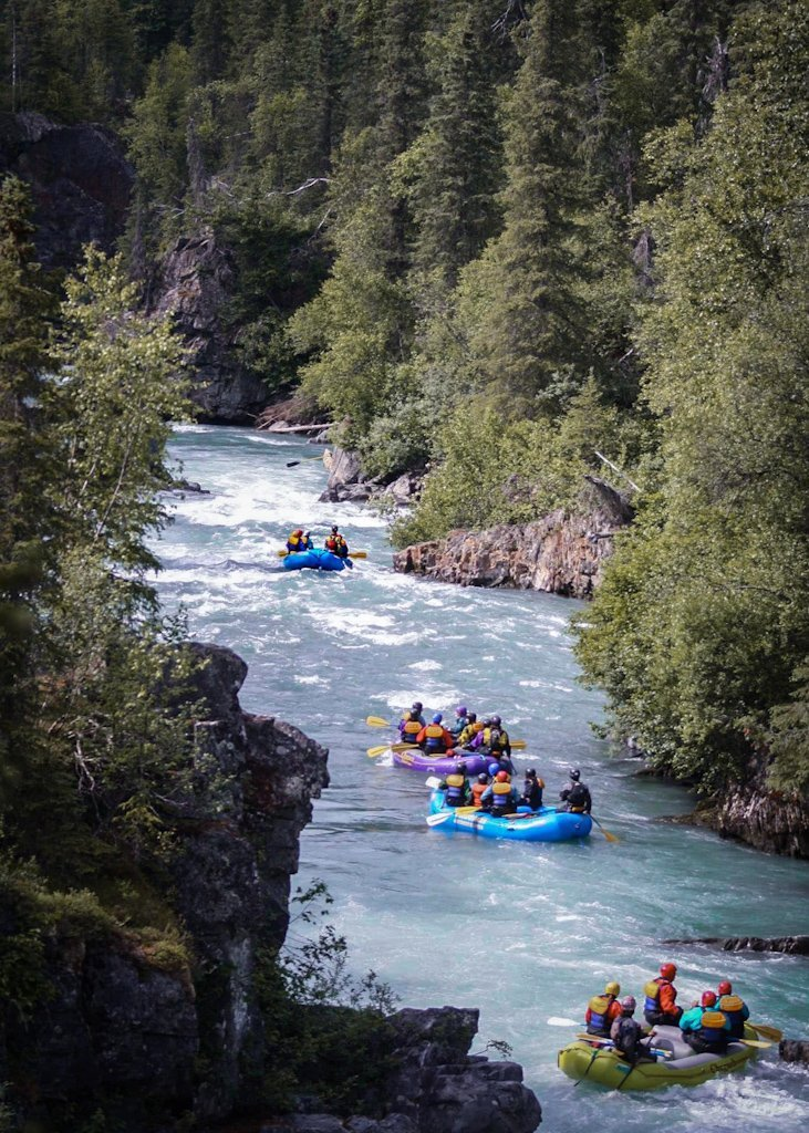 Whitewater Rafting Six Mile Creek Hope Alaska Summer Guided Tour