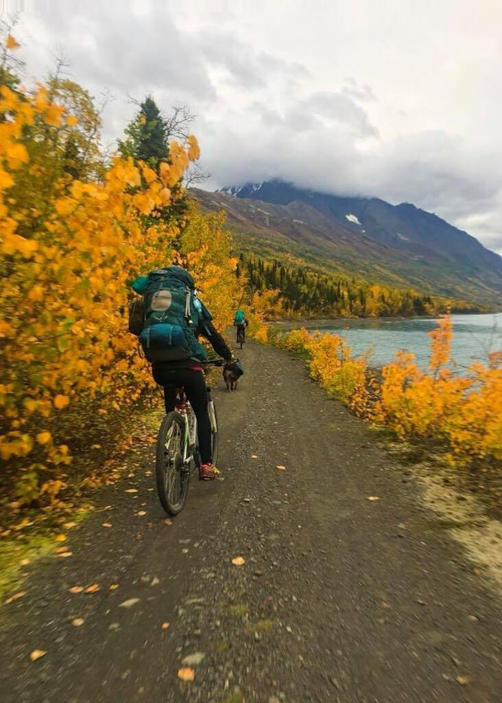 Bike Eklutna Lake Trail