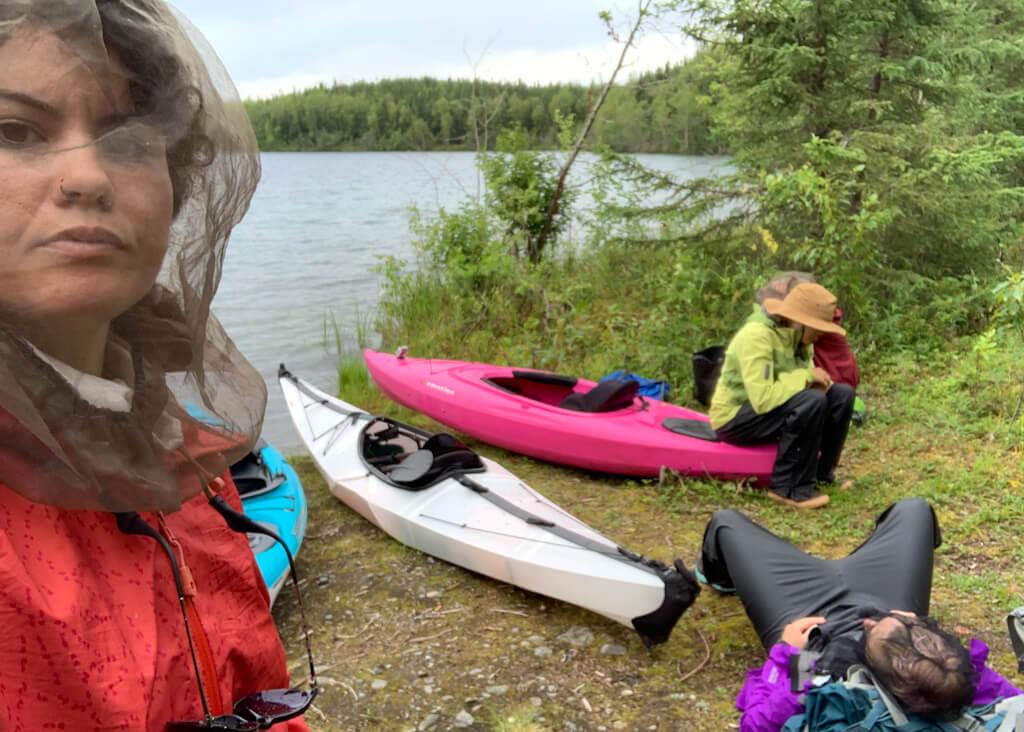Kayak Group at Raven Lake