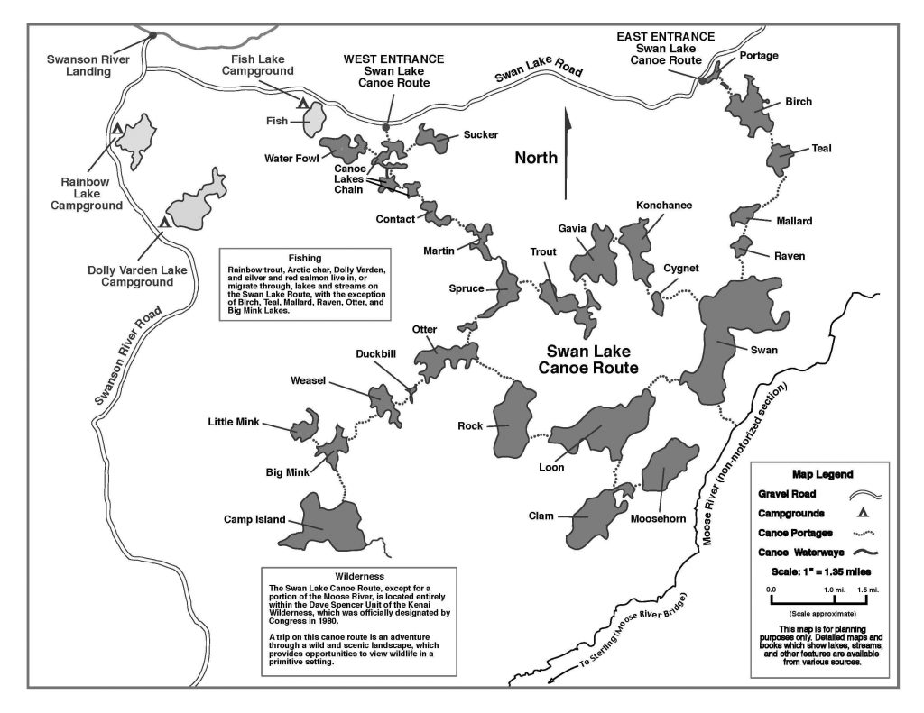 Swan Lake Canoe Trail Map