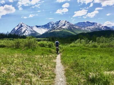 Biking Johnson Pass Trail in Alaska