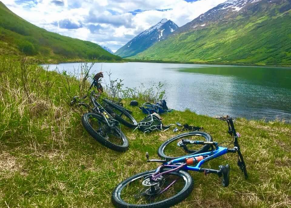 Johnson Pass Trail Bench Lake Johnson Lake Mountain Bike