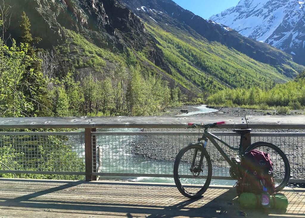 East Fork Trail Biking Eklutna Lakeside Trail
