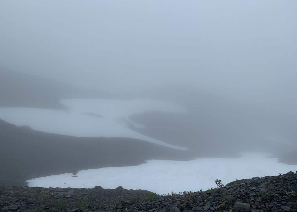Harding Icefield View During Foggy Day