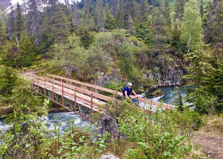 Mountain biking trail alaska