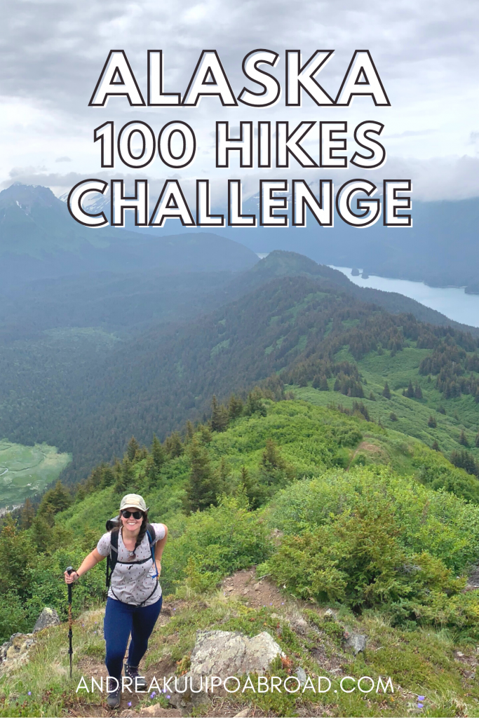 This Alaska Hiking Challange will challenge and motivate you to explore new Alaska hiking trails and areas of southcentral Alaska. Southcentral Alaska 100 Hikes Challenge is a list of 100 hikes that you can check off as you complete them. You can use the hiking logbook and hiking journal to track your progress and document your outdoor adventures in Alaska. This is a great hikers gift for outdoor lovers.