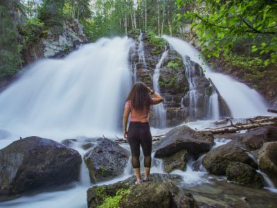 Hike Barbara Falls in Eagle River