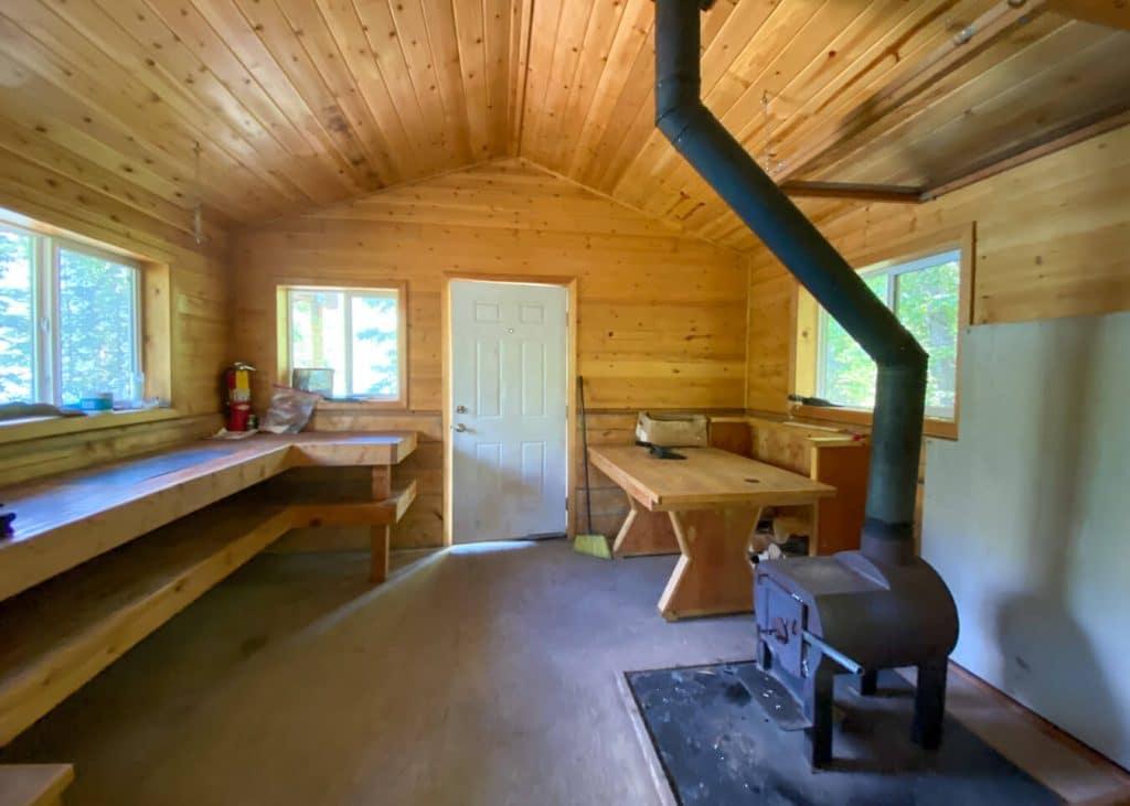 alaska public use cabin interior