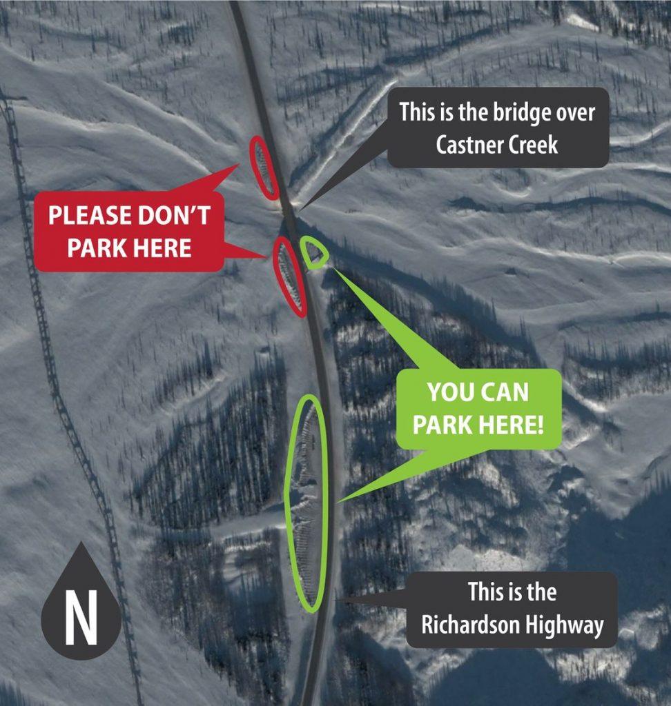 Castner Creek Castner Glacier Trailhead parking
