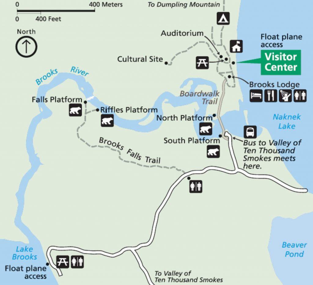 brooks camp map brooks falls alaska