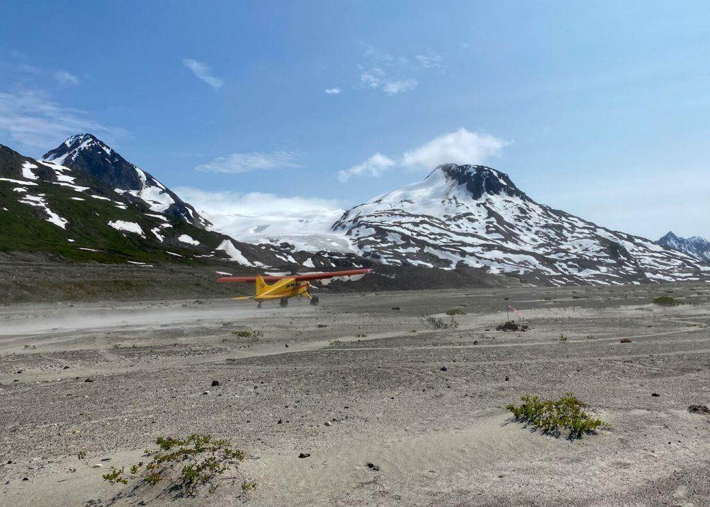 iceberg lake airstrip bush plane